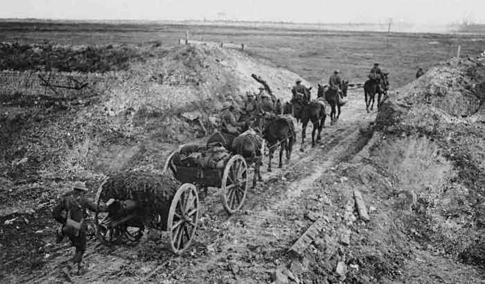 World-War-I-horse-drawn-artillery